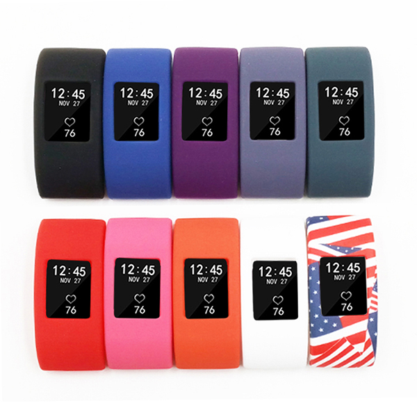 fitbit charge 2 bands case cover-Silicone Slim Wristband Protector Sleeve Case For Fitbit Charge 2