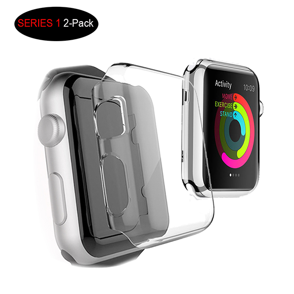 Apple Watch Series 1 42MM Case Screen Protective Cover - Clear PC Hard Case for Apple Watch Series 1 iWacth 2015