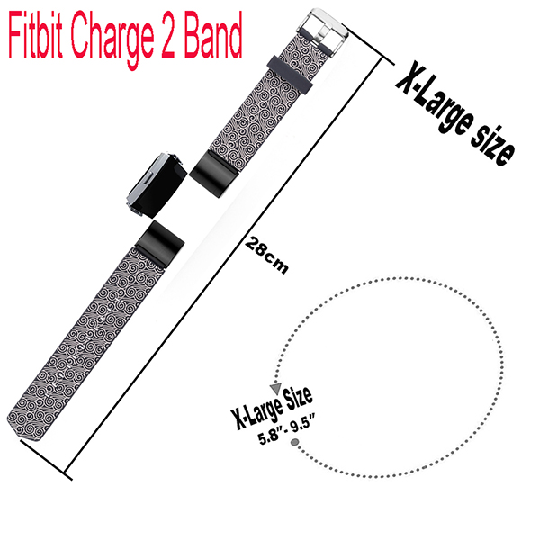 Fitbit Charge 2 Replacement Bands-Adjustable Replacement Accessories Wristband for Fitbit Charge 2 Tarcker