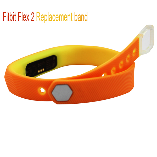 Fitbit Flex 2 Replacement Strap-Double Color Mixed Adjustabled Soft Silicone Wristband Strap with aluminium alloy button for Fitbit Flex 2 Fitness Bracelet