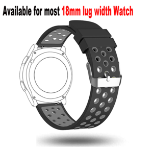18mm Watch Straps Band-Soft Silicone Wrist Strap For Huawei Watch LG Watch Style And All Other Width 18mm Smart Watch Medial Size