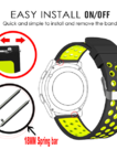 Watch Band 18mm width-Soft Silicone Wrist Strap for Huawei Watch LG Watch Style and All Other Width 18mm Smart Watch Medial Size
