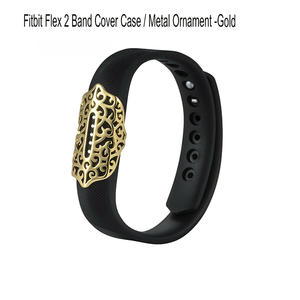 Fitbit Flex 2 Protector Case-Jewelry Bling Accessory Wristband Stainless Steel Sleeve Protector Case Cover For Fitbit Flex 2 Strap Band 3-Pack