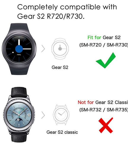 Samsung Gear S2 bands Replacement Sport Wristband Strap for Samsung Gear S2 ( SM-R720 / SM-R730 ONLY) Smart Watch