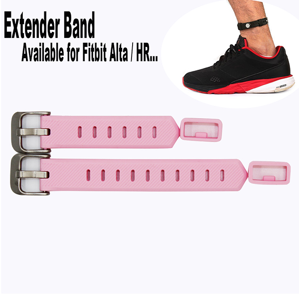 Bands Extender for Fitbit Flex/ 2 Fitbit Alta / HR Fitness Tracker Wristband-for Large Size Wrist or Ankle Wear 2 Pack with Different Length