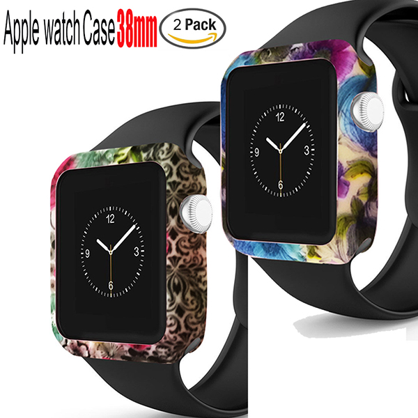 Apple Watch Case 38mm series 1-Silicone Band Cases Screen Protecotr Cover for 38mm Series 1 Series 2 Apple Watch