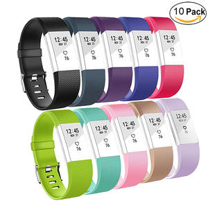 Fitbit Charge 2 Replacement Band-Adjustable Wristbands Strap For Fitbit Charge 2 Replacement -10 Pack Small