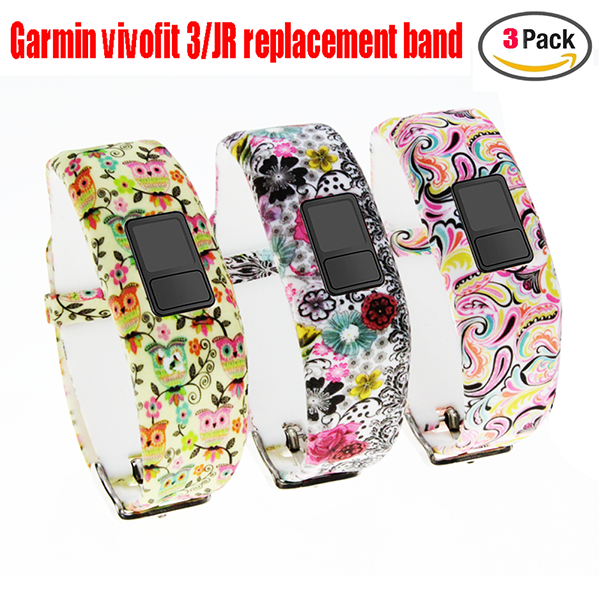 Garmin Vivofit 3 Band-Replacement Wristband Strap Bands for Garmin Vivofit 3/ Vivofit JR/ Vivofit JR. 2 Bracelet