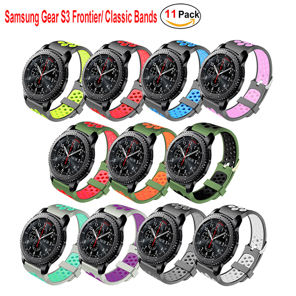 Samsung Gear S3 Band Frontier/Classic Smart Watch Band Soft Replacement Sport Bracelet Strap for for Samsung Gear S3 Frontier/S3 Classic