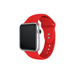 Hot sale Style Silicone apple watch bands with Double Buttons