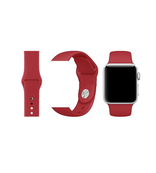 Silicone Apple Watch Bands with Single Button Classic Style