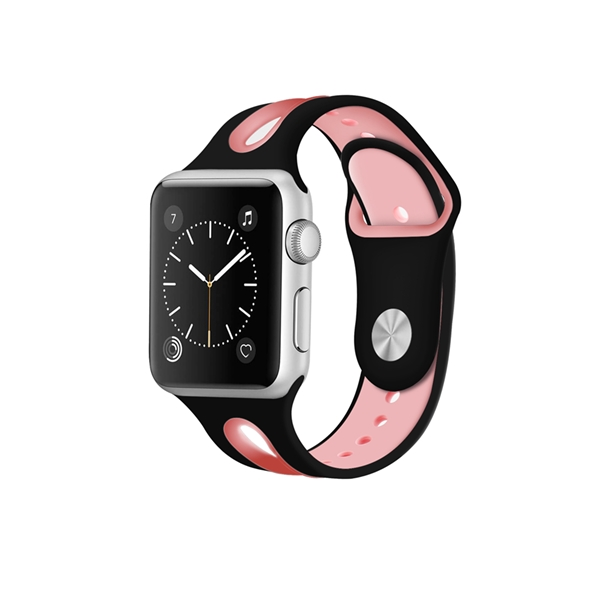 Silicone Apple Watch Bands Double Colors Fancy Style