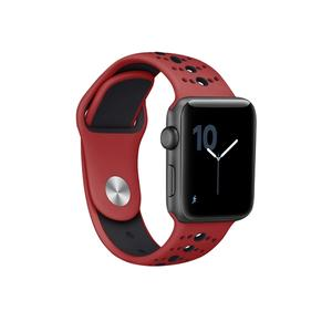 Silicone Apple Watch Bands Double Colors with One Button