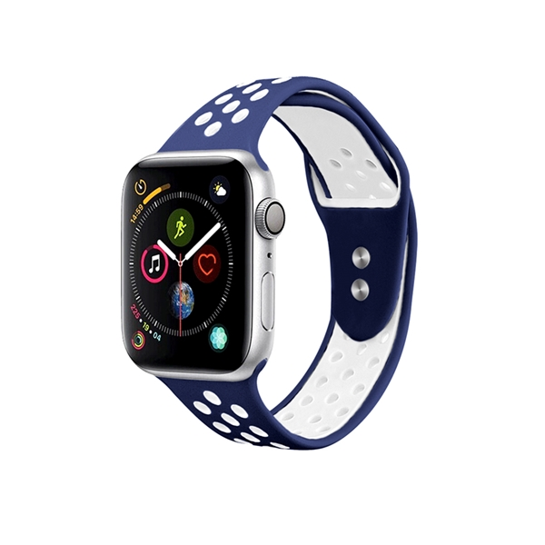 Silicone Apple Watch Bands Double Colors Nike Style with Double Buttons