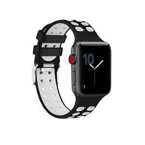 Silicone Apple Watch Bands Nike Style with Double Buckles