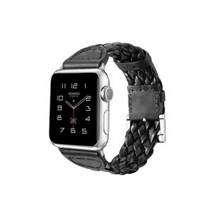 Genuine Leather Apple Watch Bands Braid Style With Buckle