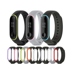Double Colors Style Silicone Watch Bands Xiaomi Mi Band 3