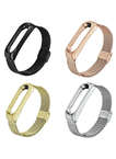 Stainless Steel Milanese Xiaomi Mi Band 3 Watch Bands with Case