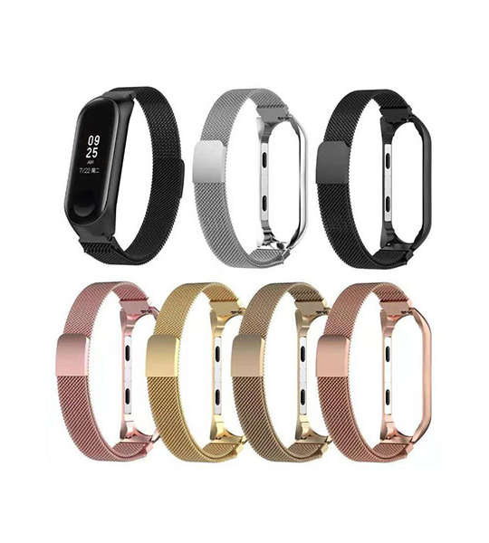 Milanese Stainless Steel Xiaomi Mi Band 3 Watch Bands with magnetic