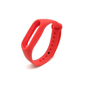Pure Colors Silicone Xiaomi Watch Bands Xiaomi Mi 2 Band With Button