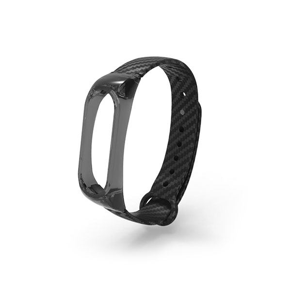 Carbon Fiber Xiaomi Watch Bands with Crystal Plastic Case Xiaomi Mi 2 Bands