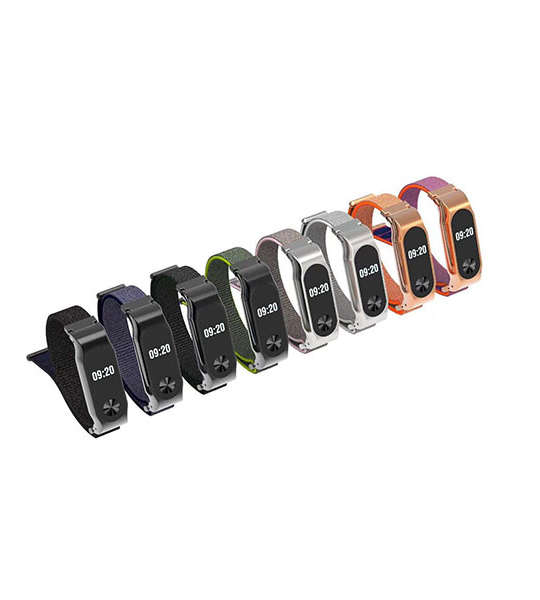 Nylon Xiaomi Watch Bands with Metal Case Xiaomi Mi Band 2