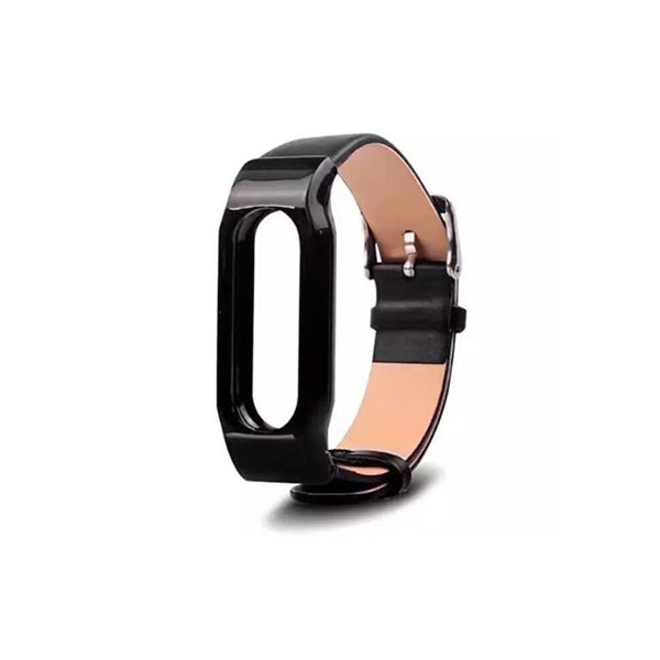 Genuie Leather Xiaomi Watch Bands Xiaomi Mi Band 2 with Metal Case