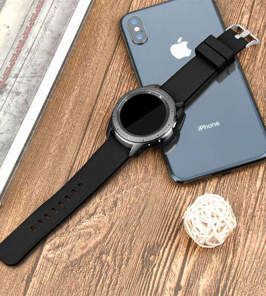 Silicone Watch Straps Samsung Galaxy 42mm Watch Bands with Buckle