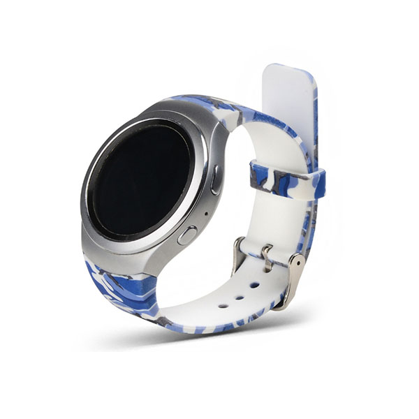 Water Transfer Print Pattern Silicone Watch Straps Samsung Gear S2 Bands