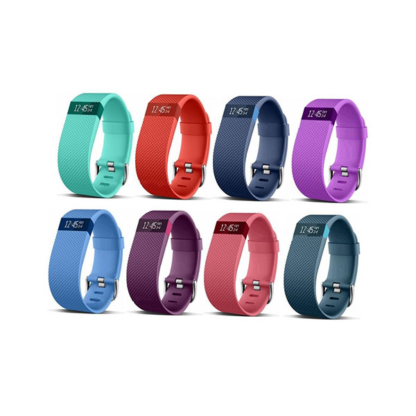 Pure Color Replacement Silicone Watch Bands for Fitbit Charge HR with Buckle