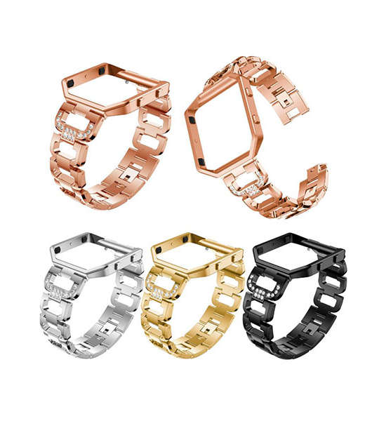 Stainless Steel Fitbit Watch Bands with cz for Fitbit Blaze