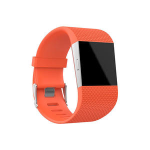 Pure Color Replacement Silicone Watch Bands For Fitbit Surge With Buckle