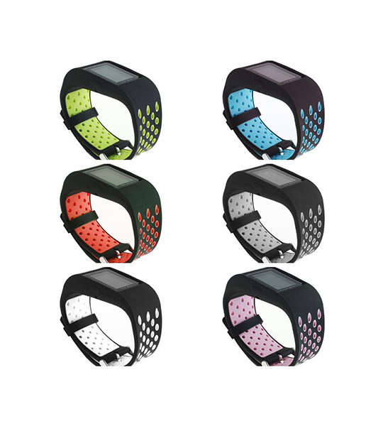 Dual Colors Replacement Silicone Watch Bands for Fitbit Surge with Buckle