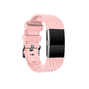 Pure Color Replacement Silicone Fitbit Watch Bands For Fitbit Charge 2
