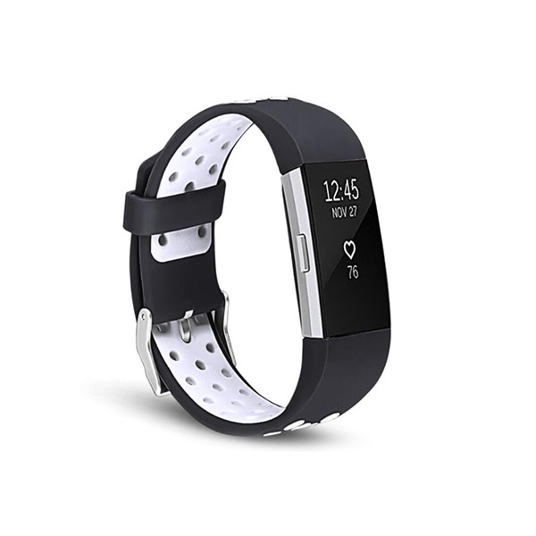 Dual Colors Replacement Silicone Fitbit Watch Bands for Fitbit Charge 2 with Buckle