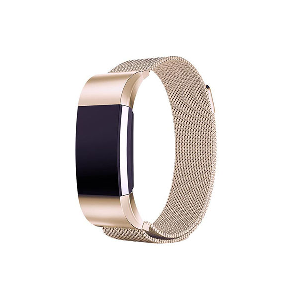 Milanese Stainless Steel Fitbit Watch Bands with Case for Fitbit Charge 2 with Magnetic Clasp