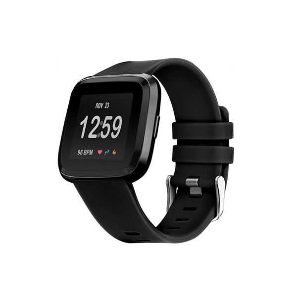 Pure Color Replacement Silicone Fitbit Watch Bands for Fitbit Versa with Buckle