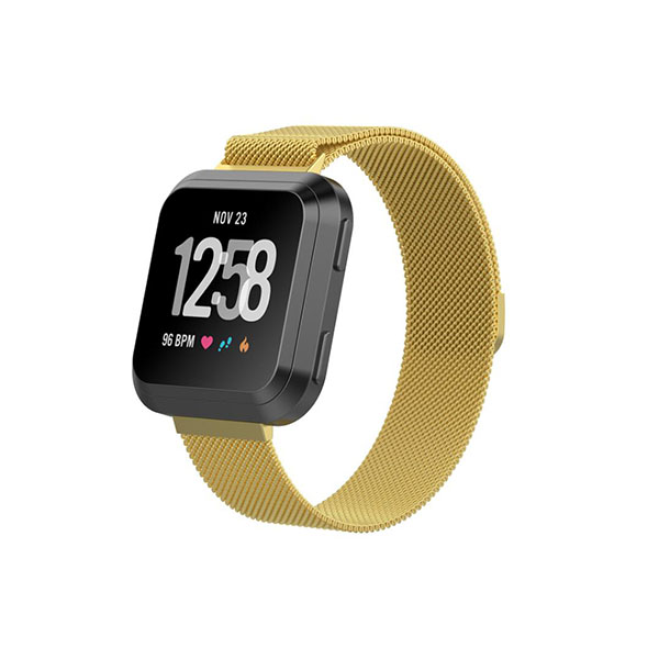 Milanese Stainless Steel Fitbit Watch Bands for Fitbit Versa with Magnetic Clasp