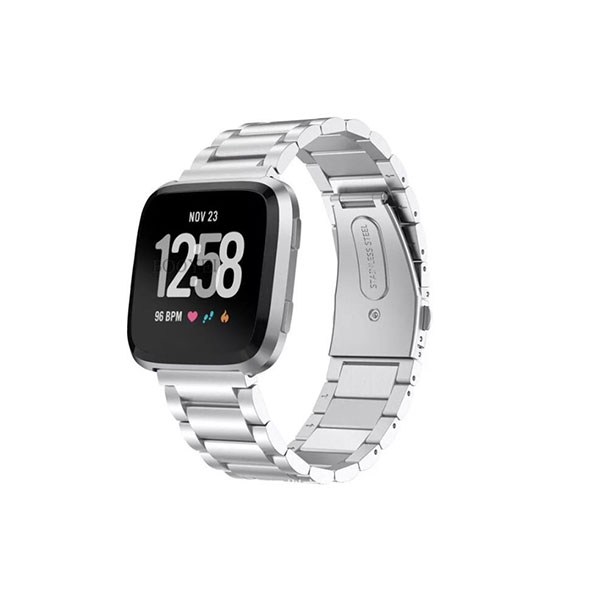 Milanese Stainless Steel Fitbit Watch Bands for Fitbit Versa with Butterful Clasp