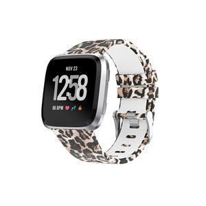 Water Transfer Printed Replacement Silicone Fitbit Watch Bands For Fitbit Versa With Buckle
