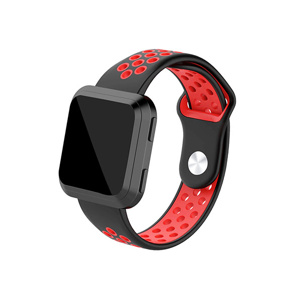 Nike Style Dual Colors Replacement Silicone Fitbit Watch Bands for Fitbit Versa