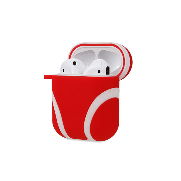 New Style Dual Colors Silicone AirPods Case Cover with Carabiner for Original AirPods Case