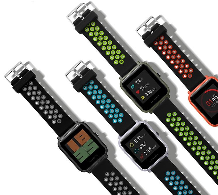 Dual Colors Silicone Xiaomi Amazfit Bip Bands Smart Watch Band with Buckle