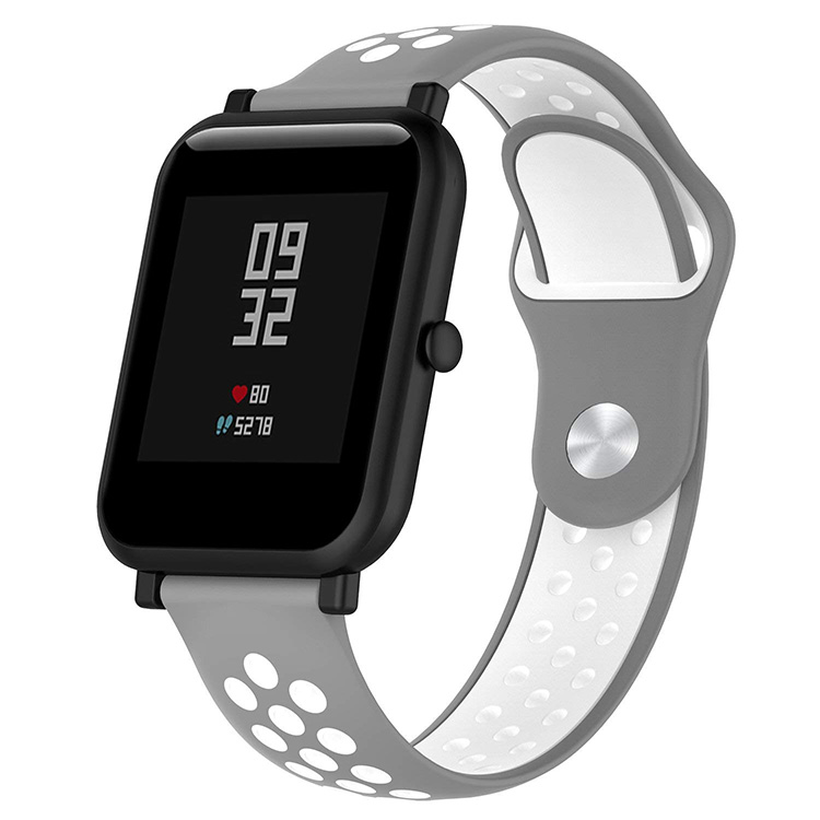 Dual Colors Nike Style Silicone Xiaomi Amazfit Bip Bands Smart Watch Band
