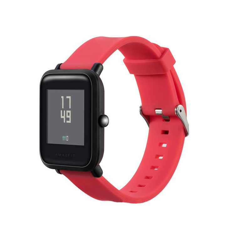 Classic Style Silicone Xiaomi Amazfit Bip Bands Smart Watch Band with Buckle