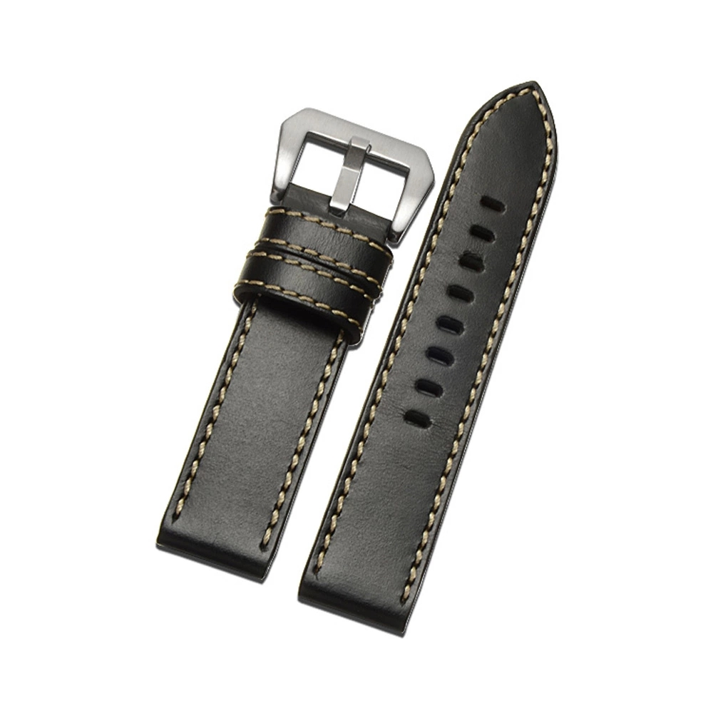 20mm/22mm Genuine Leather Watch Bands with Buckle Universal Watch Bands