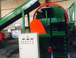 Tyre scrapping machine