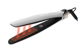 high quality infrared hair straightener suppliers,Private label titanium or ceramic plate flat iron infrared hair straightener free sample