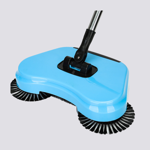 lazy hand push sweeper with 360 degree rotary rollers brush