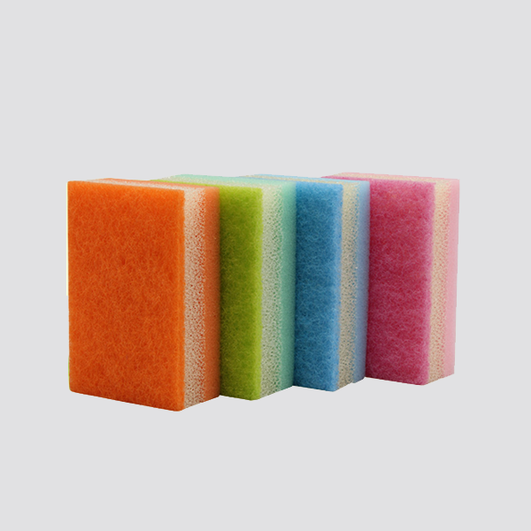 colourful dish washing scouring pad sponge